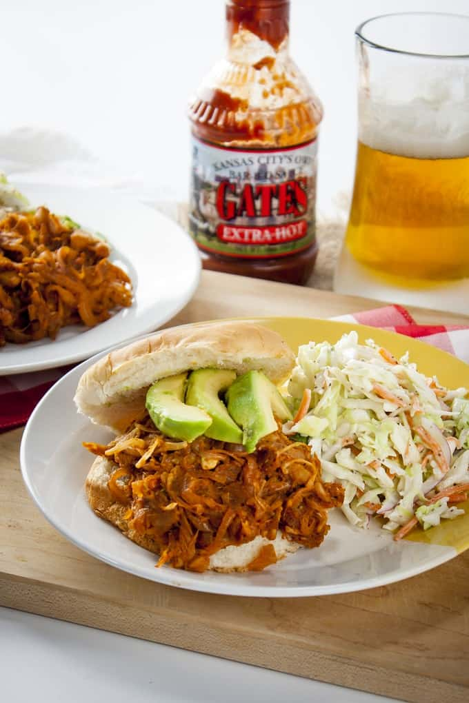 Completely vegan pulled-pork-style BBQ Jackfruit