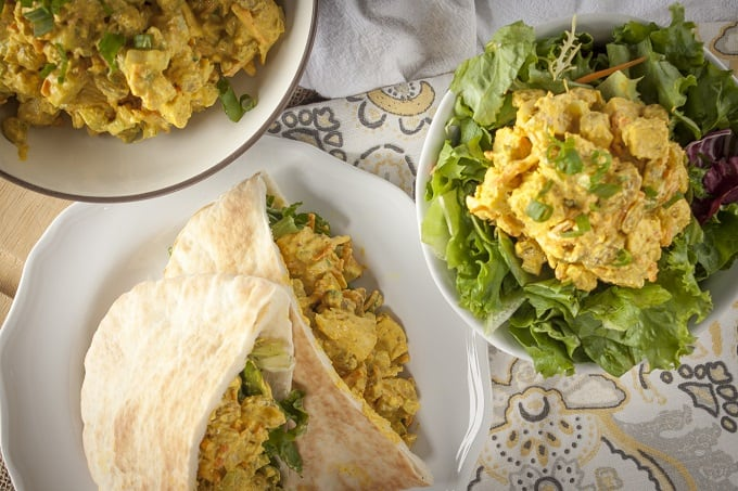 Creamy Greek yogurt Curry Chicken Salad