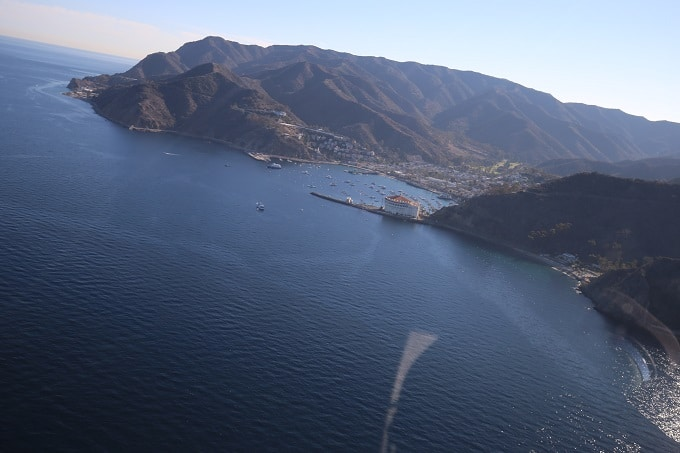 Flying over Catalina