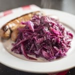 Light and healthy Braised Red Cabbage with Apple Cider Vinegar