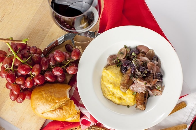 Quick and easy Rustic Italian Sausage with Grapes