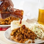 Spicy, tangy pulled-port-style Barbecue Jackfruit is vegan and gluen-free