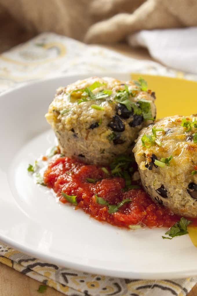 Easy Southwest Quinoa Cakes with Zesty Chipotle Salsa