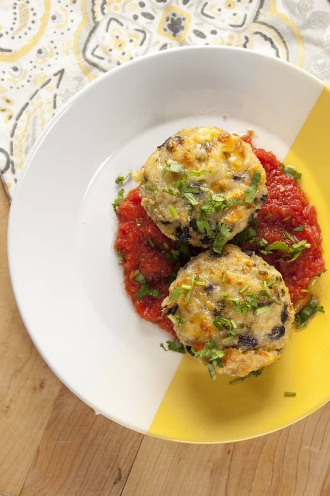 Southwest Quinoa Cakes with Chipotle Salsa