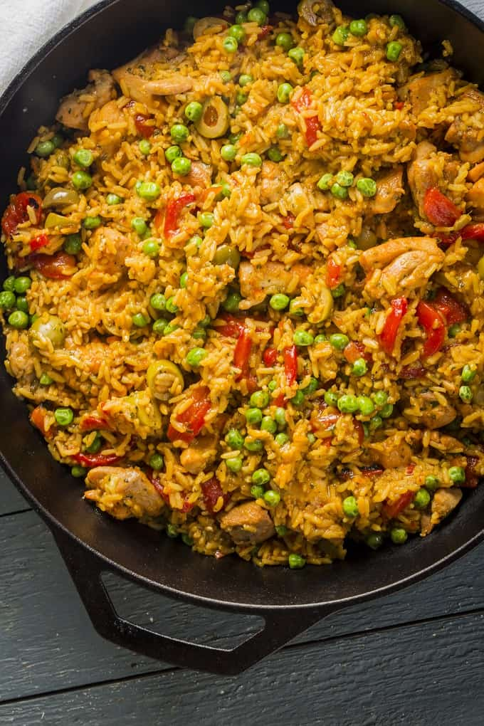 20-minute Arroz con Pollo is Gluten-Free and Delicious!