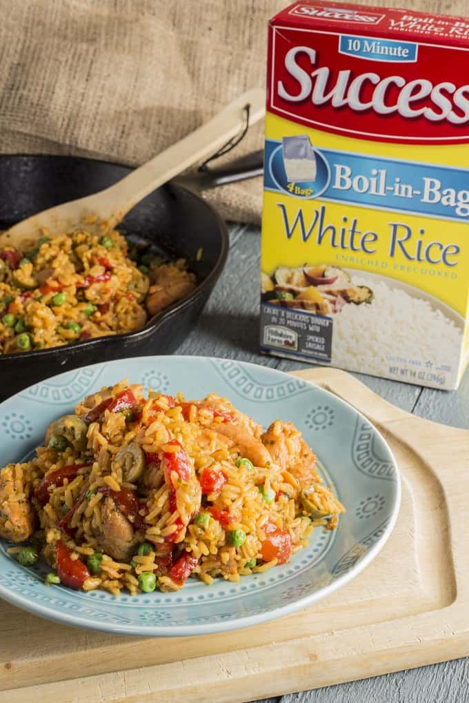 Arroz con Pollo made from pantry staples in just 20 minutes!
