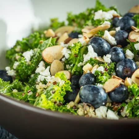 Blueberry, Kale and Quinoa Salad