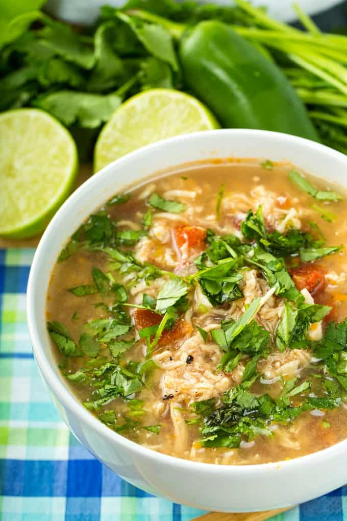 Low Fat Low Carb Mexican Soup for PSMF