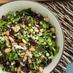 Wild rice, sour cherry arugula salad