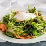 Salad Lyonnaise with Smoke Salmon Candy