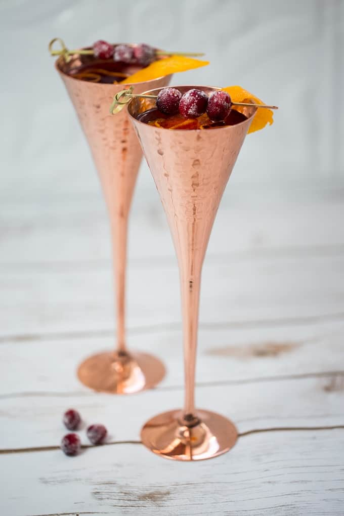 Cranberries and orange add a festive holiday twist to the French 75