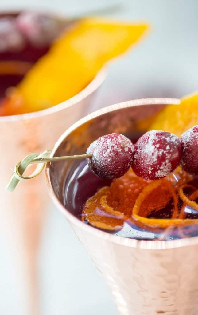 Cranberries and orange make for a festive holiday twist on the French 75
