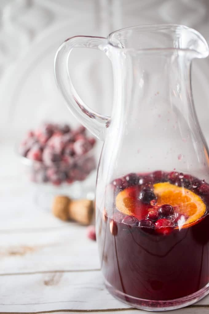 Gin, Cranberry, Orange and Champagne will make your holidays extra merry