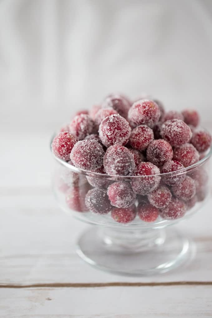 These sweet tart sugared cranberries will brighten your holiday table