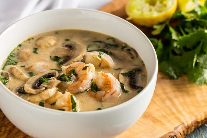 Ketogenic Shrimp Coconut Soup