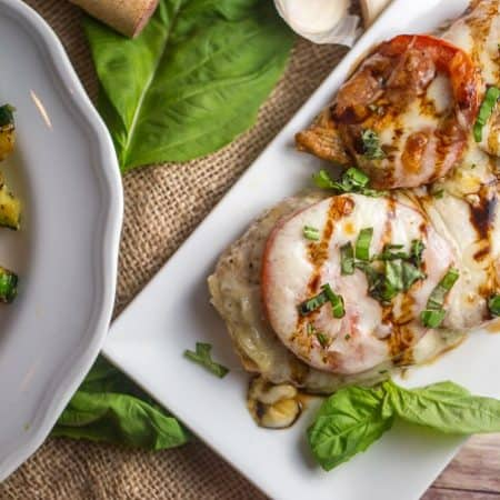 Caprese Chicken with Reduced Balsamic Drizzle