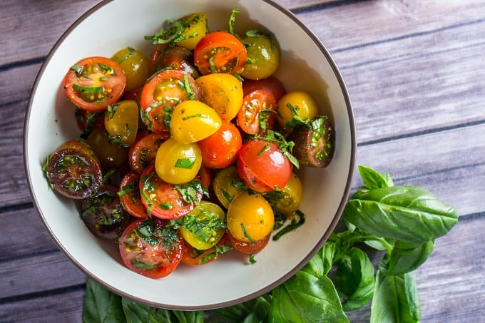 Simple Heirloom Tomato Salad