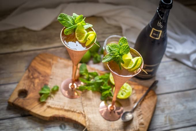 Refreshing and bubbly champagne mules are the drink of the summer