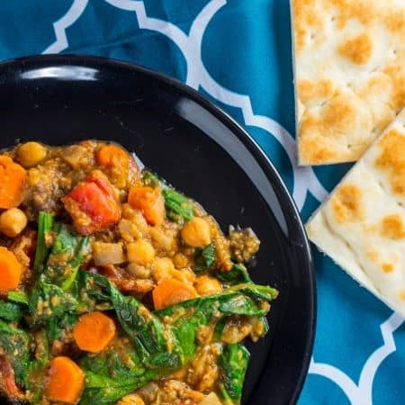Moroccan Red Lentil and Chickpea Stew