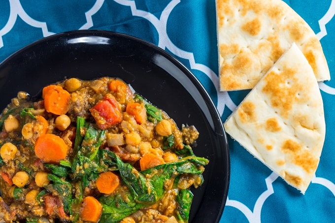 Moroccan Red Lentil, Chickpea & Apricot Stew