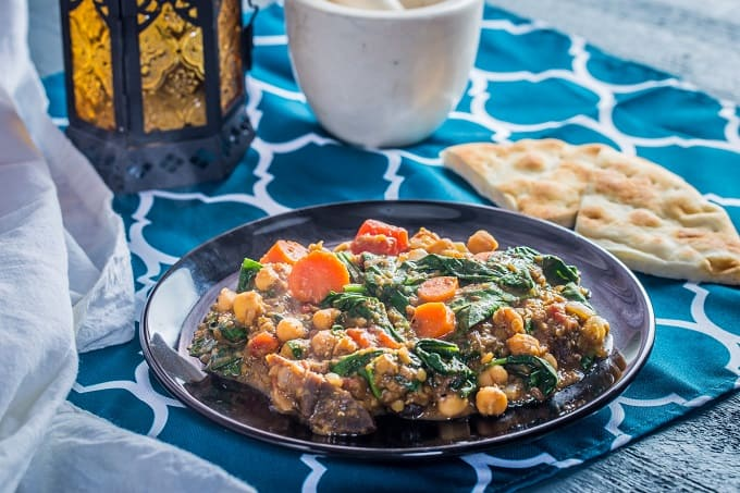 This chickpea and apricot Moroccan stew is so hearty you'd never guess it's vegan