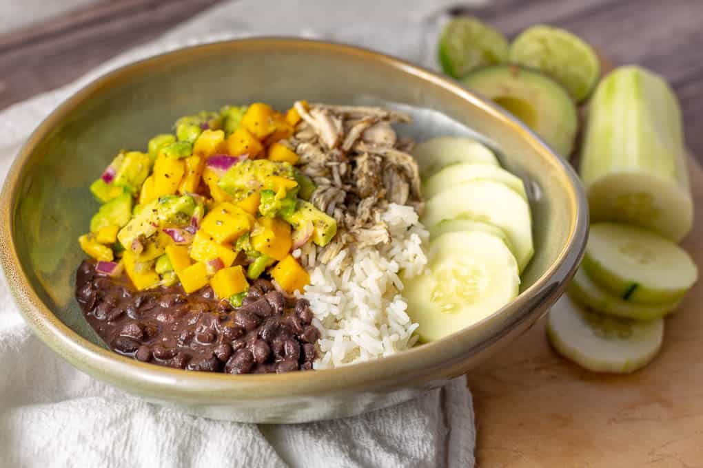 Jerk Chicken with Mango Avocado Salsa