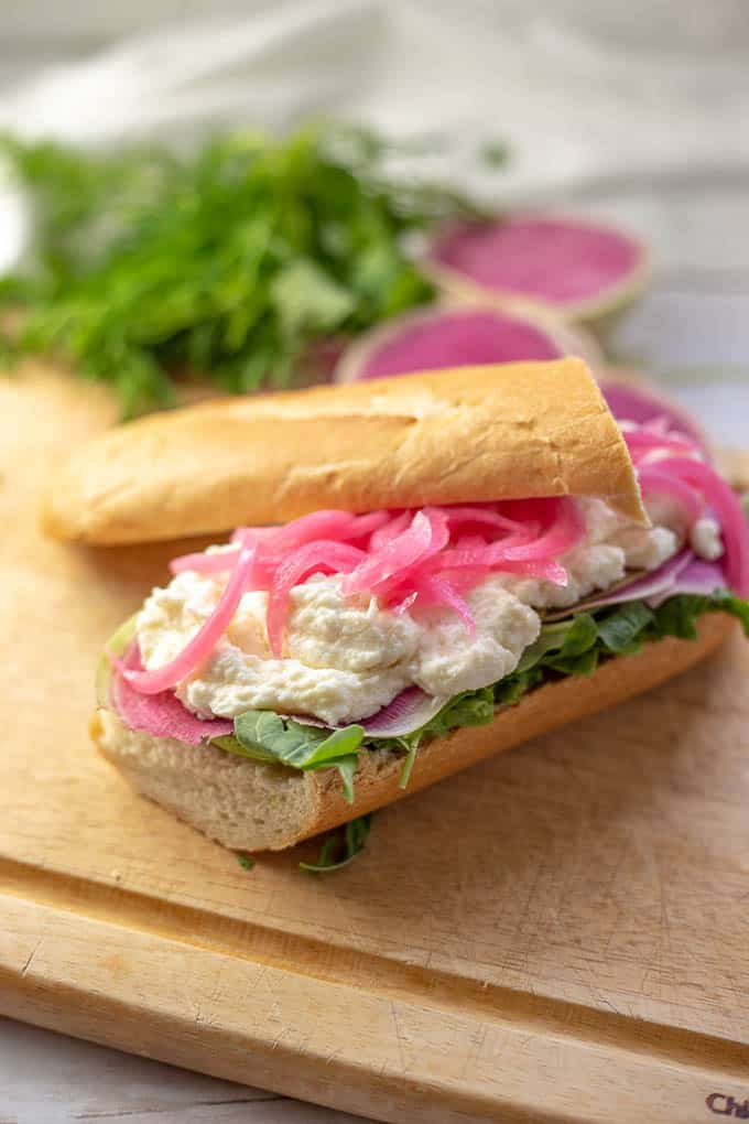 This incredible sandwich has a crisp and creamy filling that screams Springtime